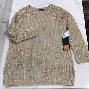 Dex camel and gold sweater